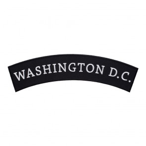 Iron On Washington D.C. State Top Rocker Patch