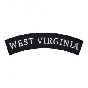 West Virginia State Top Rocker Patch With Heat Seal