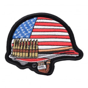 Embroidered American Flag Combat Helmet Patch