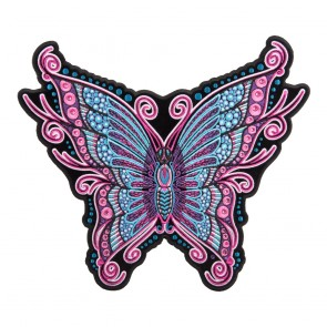 Embroidered Pink & Blue Sparkling Butterfly Patch