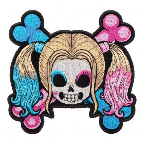 Embroidered Baby Girl Skull & Crossbones Patch