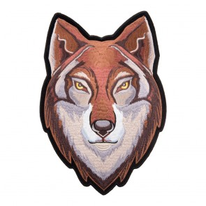 Embroidered Brown Eastern Timber Wolf Patch
