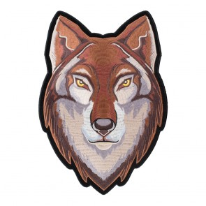 Tan & Brown Eastern Timber Wolf Patch