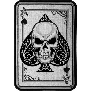 Embroidered Ace Of Spades Subdued Skull Patch