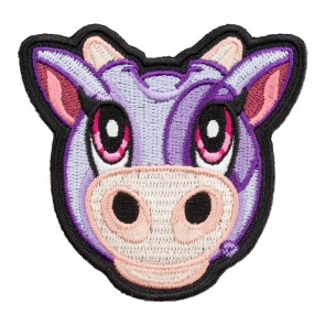 Embroidered Cowlina The Purple Cow Patch