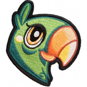 Embroidered Parrot Patch