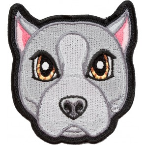 Grey American Pitbull Terrier Patch