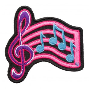 Pink, Purple, & Blue G Clef Sheet Music Patch