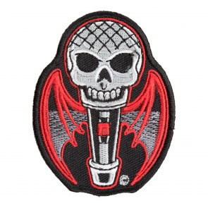 Skull & Bat Wings Microphone Patch