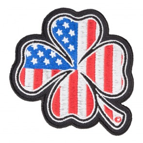 4096c1590a734 American Flag Four Leaf Clover Patch