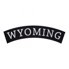 Sew On Wyoming State Top Rocker Patch