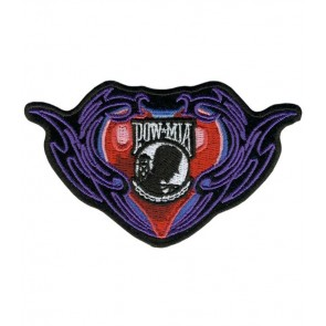 POW MIA Tribal Heart Patch, Women's Vet Patches