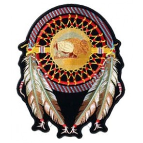 Buffalo Dream Catcher Patch, Native American Patches