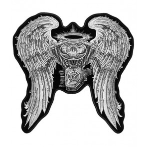 Angel Wings & Engine Patch, Women's Biker Patches