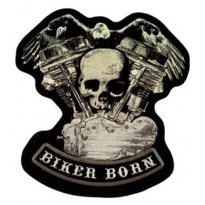 Biker Born V-Twin & Skull Patches