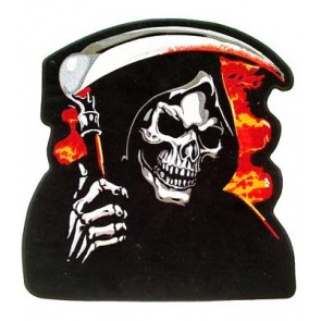 Grim Reaper Skull & Sickle Patch, Large Back Patches