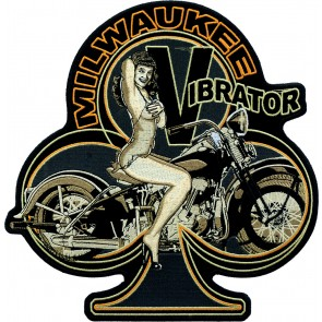 Embroidered Milwaukee Vibrator Knucklehead Pinup Patch