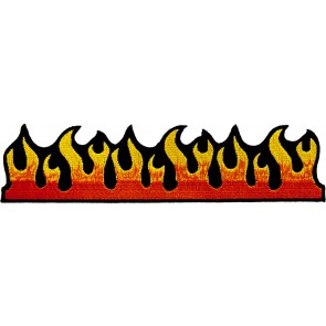 Red Hot Dancing Flames Embroidered Patch, Novelty Patches