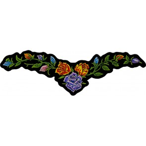Embroidered Colorful Budding Floral Vine Patch