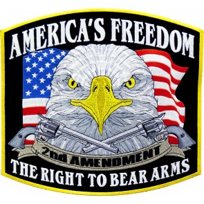 American Freedom 2nd Amendment Eagle Embroidered Patch