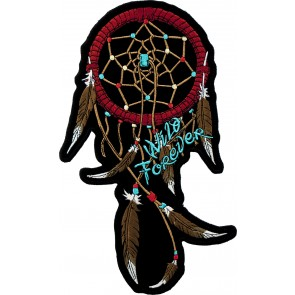 Embroidered Wild Forever Dream Catcher Patch