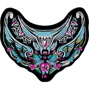 Embroidered Jeweled Tribal Falcon Turquoise Patch