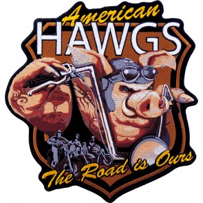 American Hawgs Shield Embroidered Brown Patch