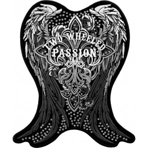 Embroidered Cross De Lis Two Wheeled Passion Patch