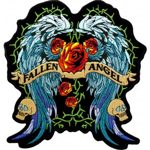 Embroidered Fallen Angel Stained Glass Patch
