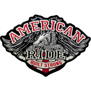 Embroidered American Ride Built Strong Eagle Patch
