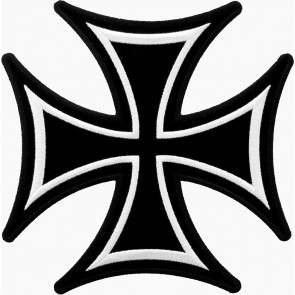 Embroidered Iron Cross Black & White Patch