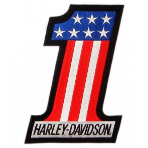 Harley Davidson #1 Red White & Blue Patch