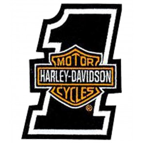 Harley Davidson #1 Orange Bar & Shield Patch