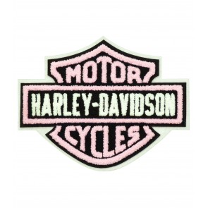 Harley Davidson Chenille Pink Bar & Shield Patch