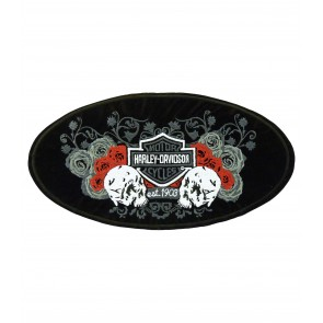 Harley Davidson Affection Skull & Roses Patch