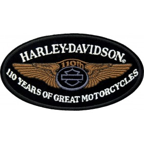 Harley Davidson 110th Anniversary Winged B&S Patch
