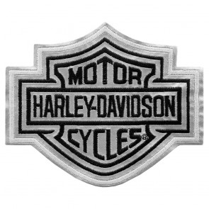 Medium Size Harley Davidson Bar & Shield Reflective Patch