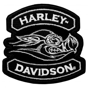 Embroidered Hog Harley Davidson Animal Instincts Patch