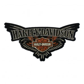 Large Embroidered Harley Davidson B&S Pinstriping Wings Patch