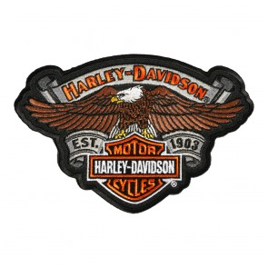 Embroidered Harley Davidson Eagle Relic B&S Patch