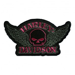 Sew On Harley Davidson Studded Skull Wings Patch