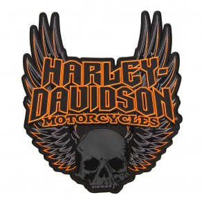 HD Sew On Gothic Wings Skull Patch