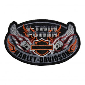 Sew On Oval Wings Bar & Shield Patch