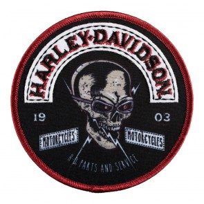 Harley Davidson 1903 Skull Rockers Embroidered & Sublimation Round Patch
