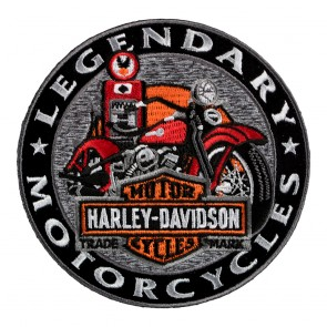 Embroidered Harley Davidson Gas Pump Motorcycle Patch