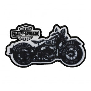 Embroidered Harley Davidson Panhead Power Motorcycle Patch