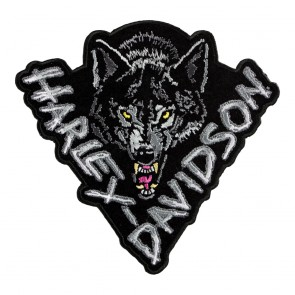 Embroidered Harley Lone Wolf Motorcycle Patch
