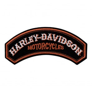 Embroidered Harley Davidson Performance Power Rocker Patch