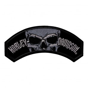 Embroidered Harley Davidson Devour Skull Rocker Patch