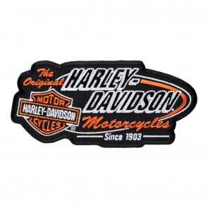 Harley Davidson Retro H-D Embroidered Bar & Shield Patch